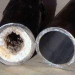 После гидродинамической промывки канализационной системы трубы обретают первоночальное сечение