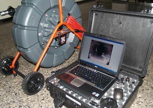 Проталкиваемая система для телеинспекции труб.